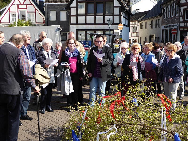 Maiansingen 2017 Der Chor der Kirchengemeinde St. Marien